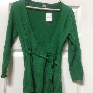 NWT jcrew wrap light weight Cotten sweater